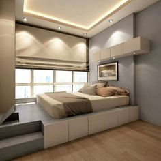 15 Spectacular Small Bedroom Design Ideas for Your Small House - #Bedroom #Design #House #Ideas #Small #spectacular Small Bedroom Designs, Small Room Bedroom, Trendy Bedroom, Small Rooms, Home Bedroom, Modern Bedroom, Small Spaces, Bedroom Ideas, Bed Ideas