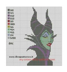 schema MALEFICENT (click to view)                   Love this have pinned to this site as it would make a wonderful crochet motif  xx