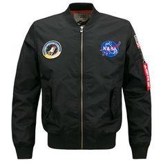 NASA Air Force One Bomber Jacket - Khaki Green – LINDER
