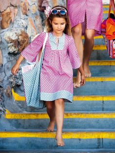 Burda Style down loadable PDF Sewing Patterns For Kids, Sewing For Kids, Baby Sewing, Clothing Patterns, Little Girl Fashion, Little Girl Dresses, Kids Fashion, Girls Dresses, Girls Kaftan