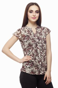 Georgette Print Top From Miss Queen. Shop Online @ Jabong, Voonik,flipkat,limeroad,paytm