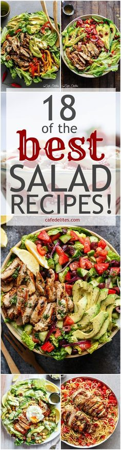 18 BEST salad recipes that are quick and easy on Cafe Delites! All made in 15 minutes or less without compromising on flavour! http://www.weightlossjumpsstar.com/what-are-the-benefits-of-drinking-water/
