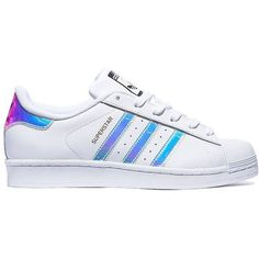 """ADIDAS SUPERSTAR IRIDESCENT """"Dubai Blues"""" #2 All Sizes, brand new in... ❤ liked on Polyvore featuring shoes, adidas, iridescent shoes, adidas shoes, blue shoes and adidas footwear"""