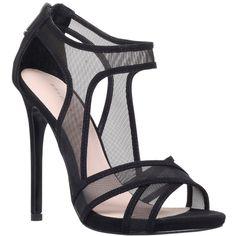 KG by Kurt Geiger Haze High Heel Sandals, Black (€165) ❤ liked on Polyvore featuring shoes, sandals, heels, scarpe, black flat sandals, strappy heel sandals, heels stilettos, black flat shoes and flat sandals