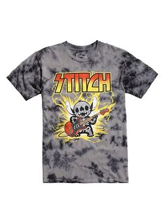 Disney Lilo & Stitch Metal T-Shirt, CHARCOAL