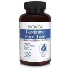 L-ARGININE / L-ORNITHINE (750mg) 100 капсули - улеснява качването на мускулна маса, съдейства за производството на енергия | Хранителни добавки АМИНОКИСЕЛИНИ | MaxLife