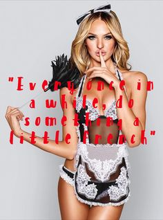 """""""Every once in a while, do something a little french"""" -from our blog post discussing RSVP etiquette! MUST READ! #twobrunettes #etiquette #RSVP #wedding #party #victoriassecret"""