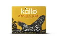 Kallo Organic Chicken stock cubes by big fish® Egg Packaging, Cool Packaging, Food Packaging Design, Brand Packaging, Branding Design, Food Branding, Coffee Packaging, Bottle Packaging, Product Packaging