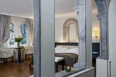 Junior Suite at Château d'Ouchy - Lausanne Lausanne, Lake Geneva, 12th Century, Alps, Furniture, Home Decor, Decoration Home, Room Decor, Home Furnishings