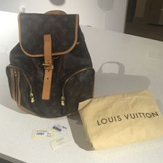 100% authentic Louis Vuitton Bosphore backpack This is a 100% guaranteed authentic Louis Vuitton Bosphore backpack. There are some signs of wear on the leather such as its oxidized and on the front where the buckle is there is a mark but when it's buckled it's not noticeable other than that this bag is in great condition!! Will do lower price through ️️ Louis Vuitton Bags Backpacks