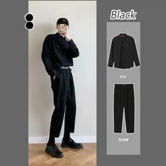 Korean Fashion Men, Ulzzang Fashion, Boy Fashion, Mens Fashion, Fashion Outfits, Korean Casual Outfits, Edgy Outfits, Simple Outfits, Boyish Style