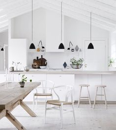 "Impressive Scandinavian Kitchen Design Interior of the All White and Beautiful T. Impressive Scandinavian Kitchen Design Interior of the All White and Beautiful Tiny Kitchen : ""Th Scandinavian Kitchen Renovation, Interior, Home, Cheap Home Decor, House Interior, Nordic Kitchen, Home Kitchens, Minimalist Kitchen, Interior Design"
