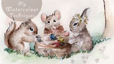 This is my Watercolour Speed Painting-Forest Friends are having tea video, enjoy! :)
