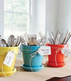 Small Kitchen Organizing Ideas | Click Pic for 20 DIY Kitchen Organization Ideas Use Glossed Pot Holders as Cutlery Holders