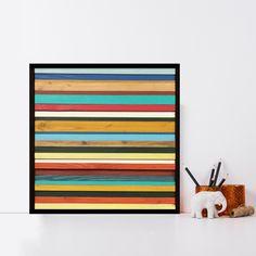 "12x12"" Brighton Reclaimed Wood Wall Art"