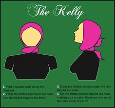 How to fold scarf to recreate Audrey Hepburn style - square scarf used. Seems easy.