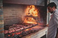 Talk about going a little overboard with your backyard smokehouse. Outdoor Grill Space, Outdoor Barbeque, Backyard Barbeque, Outdoor Kitchen Patio, Bbq Kitchen, Outdoor Oven, Outdoor Kitchen Design, Outdoor Cooking, Barbecue Four A Pizza
