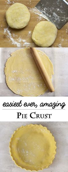 Throw out everything you know about making pie crust to make the best easy flaky pie crust you've ever made. Simple, all butter, no fail! | http://justalittlebitofbacon.com