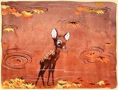 """Disney """"Bambi"""" 1942 concept art"""