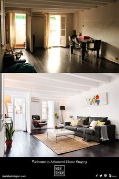 Excellent Home Staging transformation. Before and After. | Markham Stagers, Barcelona. www.markhamstagers.com