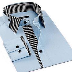 Shop Lyon Becker® Mens Designer Italian Slim Fit Formal Casual Shirts Long Sleeve Size S M L XL. Mens Designer Shirts, Designer Suits For Men, Designer Clothes For Men, Stylish Shirts, Casual Shirts, Corporate Shirts, Mens Casual Suits, Boys Kurta Design, Shirt Collar Styles