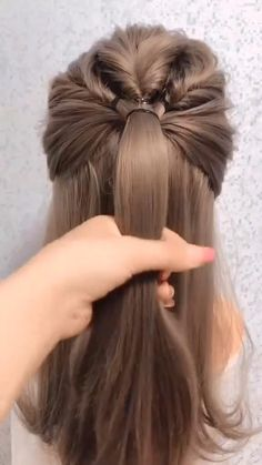 Hair Up Styles, Medium Hair Styles, Plait Styles, Bun Hairstyles For Long Hair, Straight Hairstyles, Office Hairstyles, School Hairstyles, Latest Hairstyles, Simple Hairstyles For Medium Hair