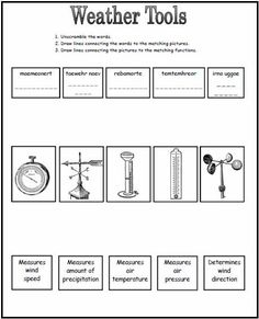 Weather Tools Worksheet: