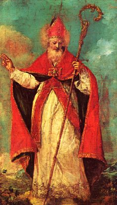 St. Nicholas by Franceso Guardi, 1712-1793, Venice, Italy. Feast Day 6 December - usually celebrated with events for children. [St. Nicholas being the inspiration for Santa Claus.]