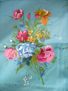60's Floral Fabric // Beautiful Lightweight by ElkHugsVintage, $13.00