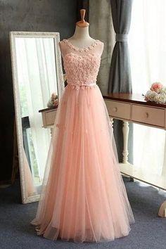 Elegant Prom Dress,Charming Prom Dresses, Pink Prom Dresses,