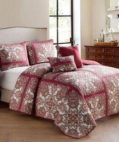 Look what I found on #zulily! Red Ankara Five-Piece Quilt Set #zulilyfinds