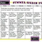 Free! Summer Speech Homework... speech-language homework over the summer break targeting a variety of goals such as articulation, language, fluency, and more...3 pages