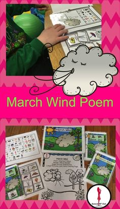 March's weather can be so tricky!  This is a fun poem about the March wind and how the beginning of March makes way for spring. There are several different presentations of the same poem to help differentiate for all children. It is perfect for preschool, kindergarten and first grade class as well as ESL, special education and speech and language therapy.