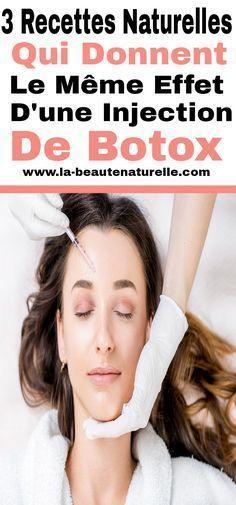 3 recettes naturelles qui donnent le même effet d'une injection de Botox #injection #botox