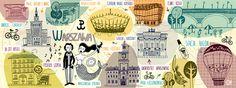 Rysowanie i podróżowanie: Warsaw, Poland by Oi Oilikki Warsaw Poland, Polish Language, Germany Poland, Drawing Sketches, Drawings, Travel Illustration, City Maps, Illustrations, Globes
