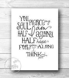 Jane Austen Quote Persuasion  Captain Wentworth  by SpoonLily, $10.00
