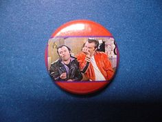 """LENNY & SQUIGGY button or magnet 1"""" one inch pinback pin badge Laverne Shirley 50 retro television tv funny comedy sitcom rockabilly greaser... http://www.wittybutons.com"""