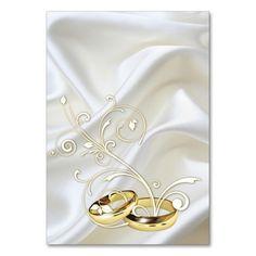White satin and gold design Wedding Table Number , Card Table Wedding, Wedding Place Cards, Wedding Table Numbers, White Satin, White Gold, Table Names, Romantic Weddings, Graduation Gifts, Creative Design