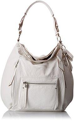Jessica Simpson Alicia Hobo Shoulder Bag, White, One Size