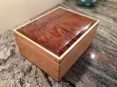 Walnut and maple jewelry box