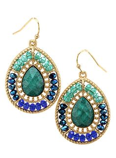 #jewelry #earrings #stone #green #sparkle #accessories