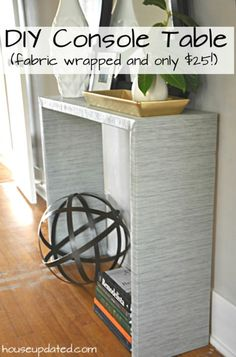 FOUND IT!!!!!!!!! DIY Console Table (Parsons Style) exactly what I was thinking for our tiny entryway. I may need to adjust the size - but will totally be doing this in the spring!!!!!!!