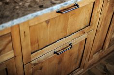 hidden fridge drawers under your baking workspace...I'll need this!