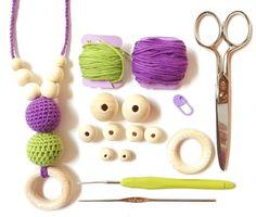 Tutorial Cómo hacer un collar de lactancia  #collardelactancia #collarmoredor #tutorialganchillo #ganchillo #crochet