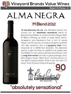 #AlmaNegra M Blend 2012 - 90 points - Robert Parker's Wine Advocate