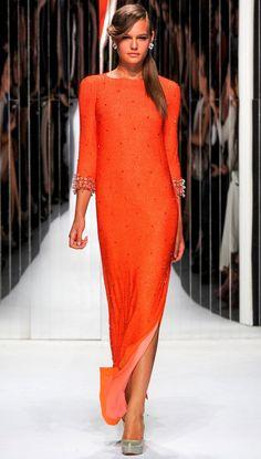 Orange is IN....  Fabulous simple styled orange dress...