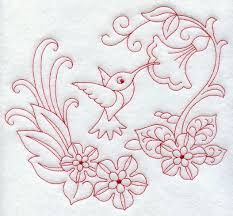(^_^) Spring hummingbird - Machine Embroidery Designs at Embroidery Library! - New This Week Embroidered Bird, Paper Embroidery, Embroidery Transfers, Machine Embroidery Patterns, Vintage Embroidery, Embroidery Stitches, Embroidery Ideas, Bordado Popular, Crazy Quilting