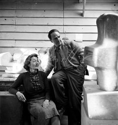 Irina and Henry Moore by Lee Miller