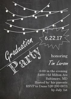 Graduation Party Invitations ~ High school or college Graduation Party Invitations
