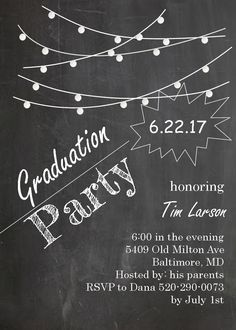 Graduation Party Invitations ~ High school or college Graduation Party Invitations